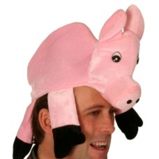 Animal Hat Pig Pink with Funny Eyes