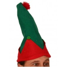 Elf Hat Shape Green & Red