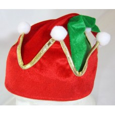 Hat Elf Crown Shape Green & Red