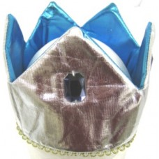 Crown Hat Shaped Blue & Silver