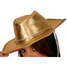 Cowboy Hat Gold with Silver Cord