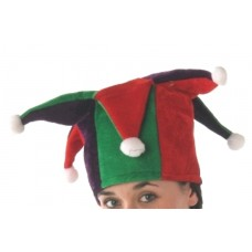 Jester Hat Tall with Multi Points Red &