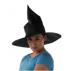 Hat Witch's Satin Plain Black
