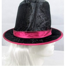 Hat Top Black with White Hair