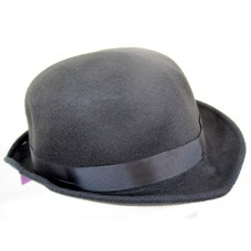 Bowler Hat Felt Black one size fits all