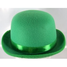Bowler Hat Felt Green one size fits all