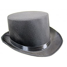 Top Hat Satin Black 59cm