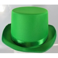 Top Hat Satin Green 59cm