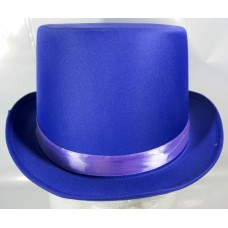 Top Hat Satin Purple 59cm