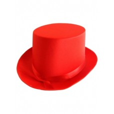 Hat Top Satin Red 59cm