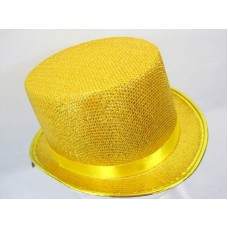 Top Hat Metalic Gold 59cm