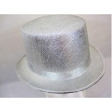 Hat Top Metallic Silver Style 59cm