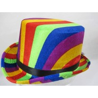 Hat Top Rainbow colours 61cm