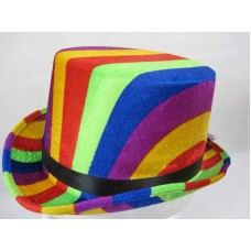 Top Hat Rainbow colours 61cm