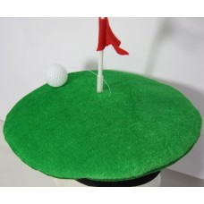 Hat Golf Green, Flag & Ball