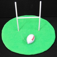 Hat Rugby Goal Posts with Ball