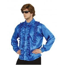 Costume Shirt with Frills Blue X Large