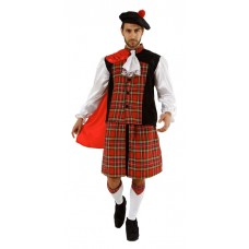 Scots Man Tartan Costume X Large