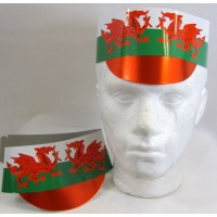 Hat Card Flag with Peak Wales 25's