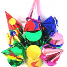 Foil Party Hats Asstd Shapes & Cols 50's