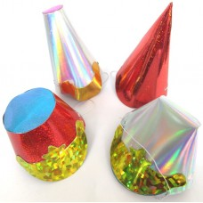 Foil Party Hats Asstd Shaped Small 75's
