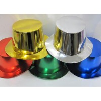 Foil Party Top Hats Assorted 25s