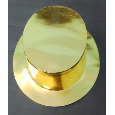 Foil Party Top Hats Gold 25s