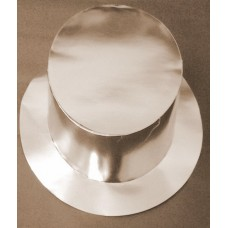 Foil Party Top Hats Silver 25s