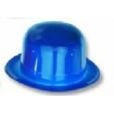 Plastic Bowler Hat Adult Blue