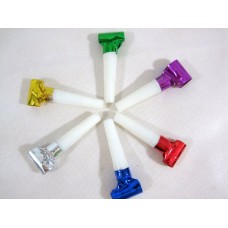 Foil Party Blow-Outs Assorted  Colour 50