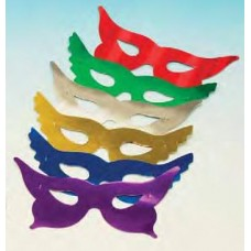 Foil Party Masks Butterfly 50 Assorted