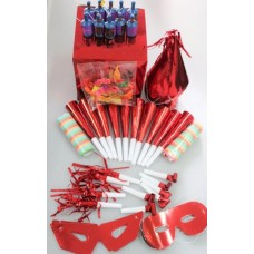 Party Box Foil for 10 People Red