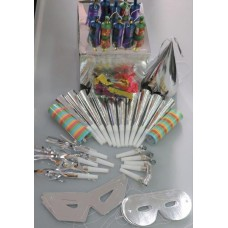 Party Box Foil for 10 People Silver