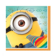 Party Napkins Despicable Me 24cm Pkt 16