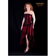 Burlesque Saloon Girl Burgundy XXL 2 Pic