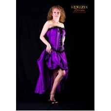 Burlesque Saloon Girl Purple XL 2 Piece