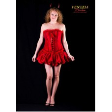 Costume Burlesque Saloon Girl Red Med 2