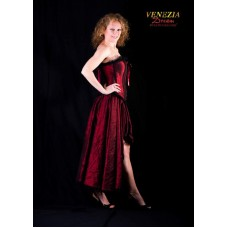 Burlesque Skirt Burgundy Large