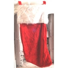 Santa Stocking Plain Plush 100cm with Fu