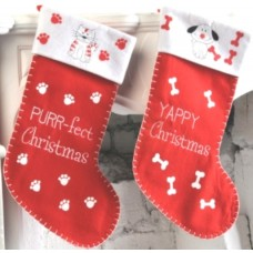 Santa Stocking Decorated Pet 50cm