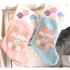 Santa Stocking Decorated Baby's  50cm