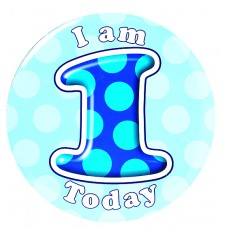 Badge 15cm Happy Birthday Age 1 - Boy
