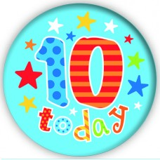 Badge 15cm Happy Birthday Age 10 Boy