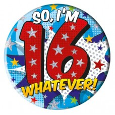 Badge 15cm Happy Birthday Age 16 Male