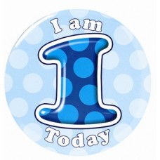 Badge Happy Birthday Age 1 - Boy 5cm