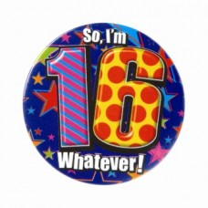 Badge 5cm Happy Birthday Age 16 Male