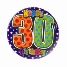Badge 5cm Happy Birthday Age 30 Male