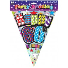 Bunting Happy Birthday 60th