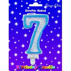 Candle Birthday Number 7 Blue