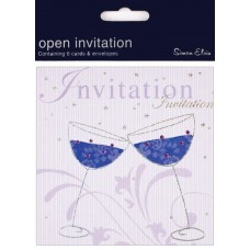 Card Invitation Foil Open 6 pk